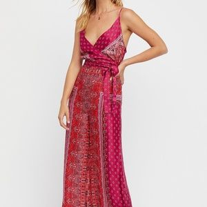 Free people Britt cabbage rose Jumpsuit Size 2